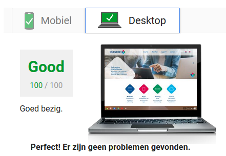 isource pagespeed 100/100 max score
